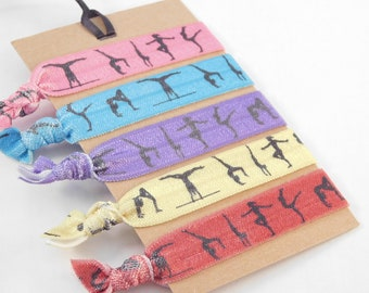 accessories birthday party favors gymnastics favors party favors loot bag cute hair Blue Gymnastics Hair Ties hair tie favors