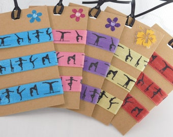 Gymnast Hair Ties, Gymnastics Gift, Tumbler Hair Ties, Athletic Gift, Sports Hair Ties, Ties and Elastics, Party Favors, Team Favors, Gifts
