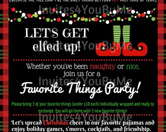 Invitation, Christmas party, customizable