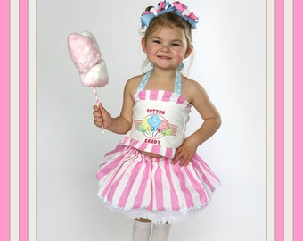 Cotton Candy party Circus party candy cake smash birthday outfit Baby girl Cotton Candy Birthday tutu set Cotton candy bodysuit