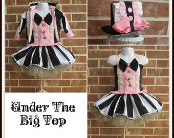 8ab27fc35 Ringmaster Birthday, Circus Ringmaster skirt and top costume, Carnival  tutu, Circus outfit, Lion Tamer