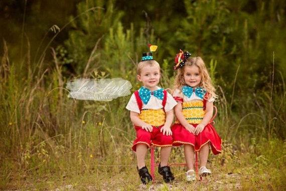 Girls Halloween Tweedle Dress Girls Costume Wonderland Tutu