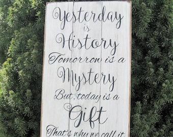 Yesterday Is History Tomorrow Mystery Wall Decal Vinyl Decor Sticker Art Q26