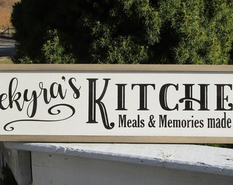 Superbe Personalized Kitchen Sign/ Kitchen Sign/ Personalized Meals And Memories  Made Here Sign/ Custom Kitchen SIgn/ Farmhouse Kitchen Wood SIgn
