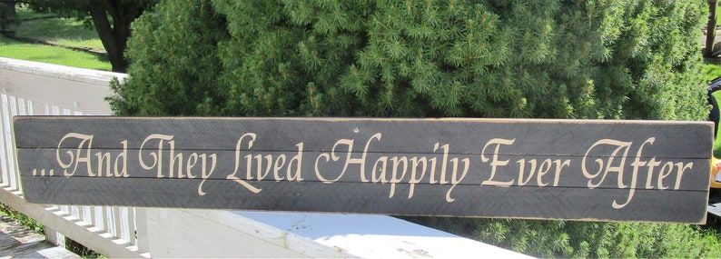 And They Lived Happily Ever Upcycled wood pallet sign ~ Farmhouse Sign Rustic Sign Wedding Gift Bridal Shower Gift Anniversary Gift