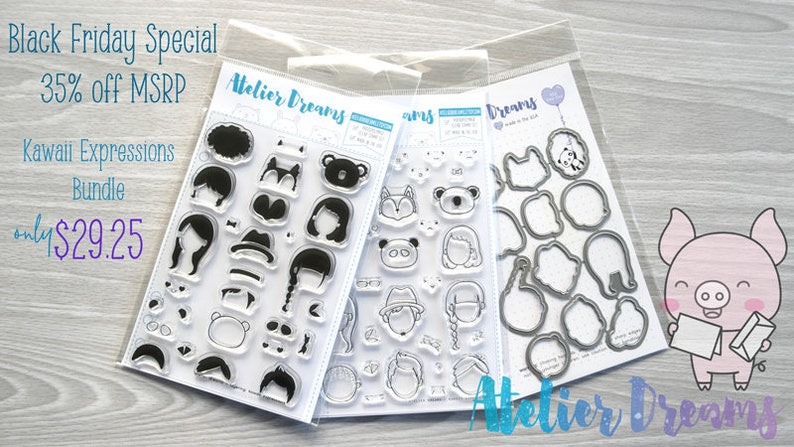 96552d653a312 ADB-002 KAWAII EXPRESSIONS Bundle - Planner Stamps (Photopolymer Clear  Stamps)