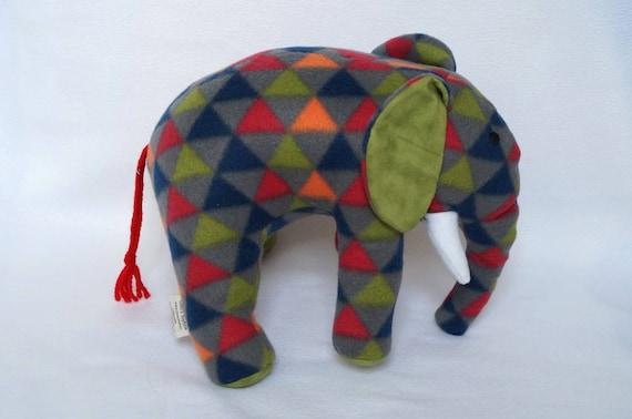 Green Plush Elephant Handmade Elephant Toy Elephant Toys Etsy