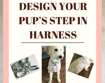 Design Your Pup's Step In Harness for Walks