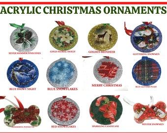 Custom Acrylic & Fabric Christmas Ornaments