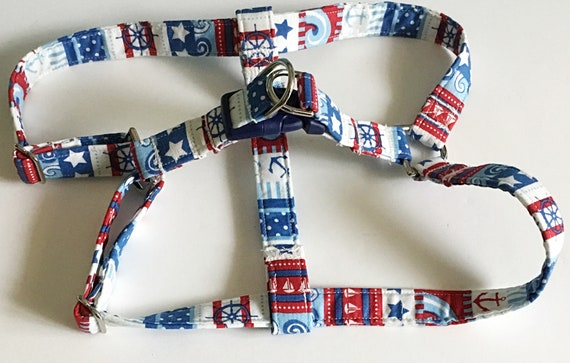 Nautical  Step In Dog Harness