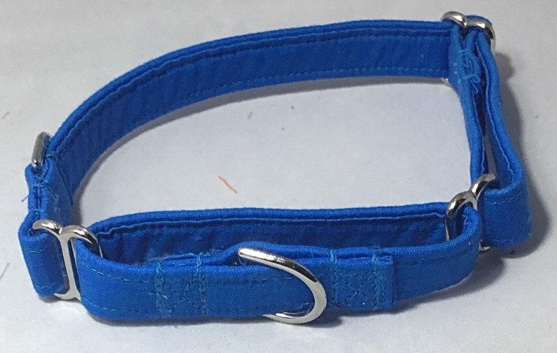 Hawaii Blue Wedding Martingale Collar for DogsMatching Royal Blue Leash OptionXS-XL