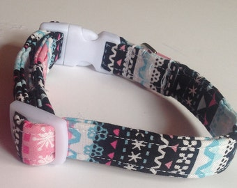 """Clearanced Winter Christmas Collar with Snowflakes for Dogs- Size Small with 5/8""""W Band"""