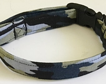 """Small Pre Made Camouflage Collar for Male & Female Dog -  5/8""""W Band"""