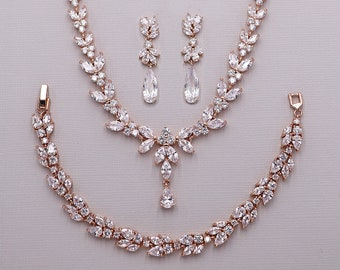 f5f950200846 Rose gold jewelry set