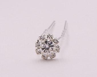 Crystal rhinestone wedding hair pin, bridal hair accessories, rhinestone hairpin, bridal hair pearl, Crystal Flower Hair Pin