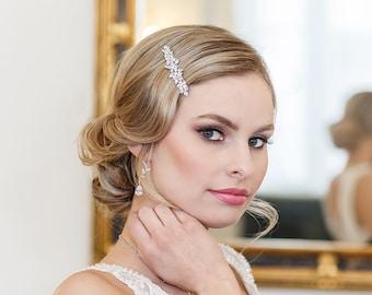 Crystal Rhinestone Barrette, Bridal Comb Crystal, Wedding Crystal Hair Clip, Hair Barette, Wedding Accessory, Brynlee Bridal Barrette Clip