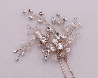 Flower Hair Pin Wedding Hair Pins Style #HP0117 Crystal Hair Pin Bridal Rhinestone Hair Pin Bridal Hair Accessories Bridal Hair Pins