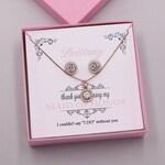 Bridesmaid Jewelry Rose Gold, Bridesmaid Jewelry Set, Bridesmaid Jewelry Gift, Karina Rose Gold Personalized Bridesmaids Set