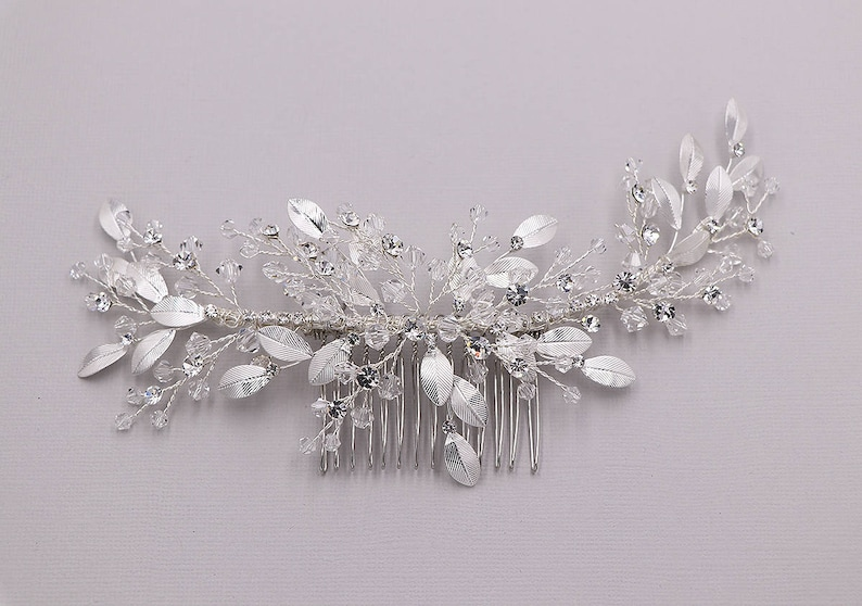 Tiara #8603 Silver Rhinestone & Swarovski Crystal Headpiece Fashion Jewelry