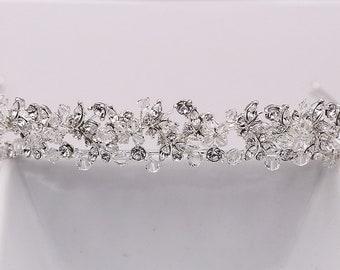 SALE! Swarovski Crystal Bridal tiara headpiece, wedding tiara, wedding headpiece, crystal tiara, bridal tiara 1009