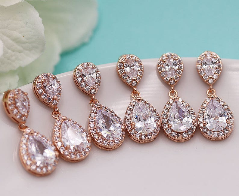 Bridal & Wedding Party Jewelry Engagement & Wedding Trend Mark Cubic Zirconia Maid Of Honor Gift Bridesmaid Bracelet Set Bridesmaid Jewelry At All Costs
