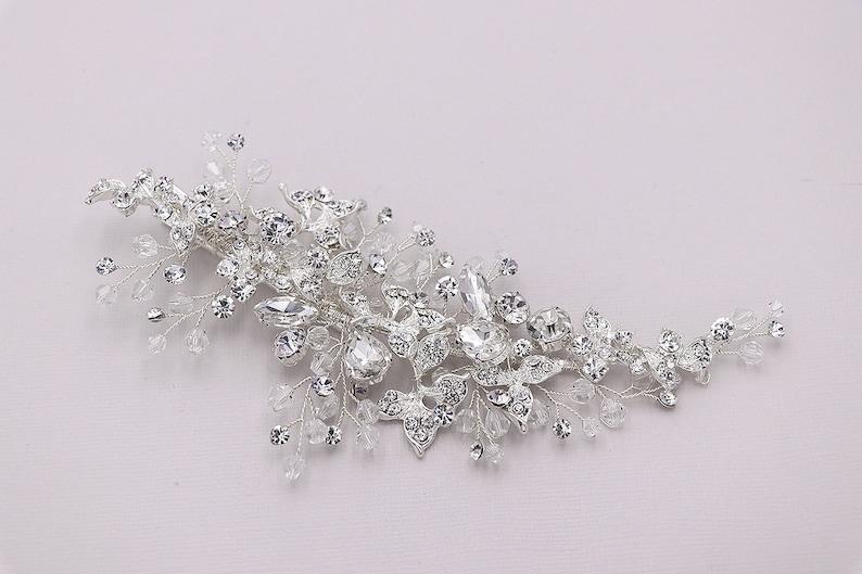 Crystal Bridal Clip Chantelle Crystal Hair Clip Wedding Hair Clip Comb Handmade Wedding Clip Crystal Bridal Clip