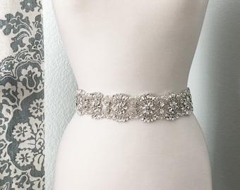 Bridal Sash, Wedding Dress Belt, Rhinestone Bridal Sash, Crystal Sash Belt, Wedding Dress Belt, Bridal Sash Belt 2039