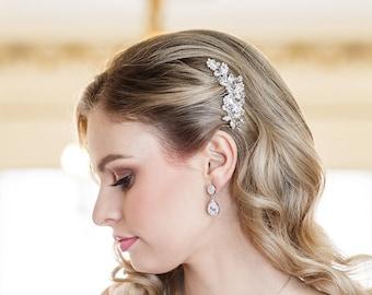Crystal Bridal Comb, Rhinestone Comb, Bridal Comb Crystal, Wedding Crystal Hair Comb, Carla Crystal Comb