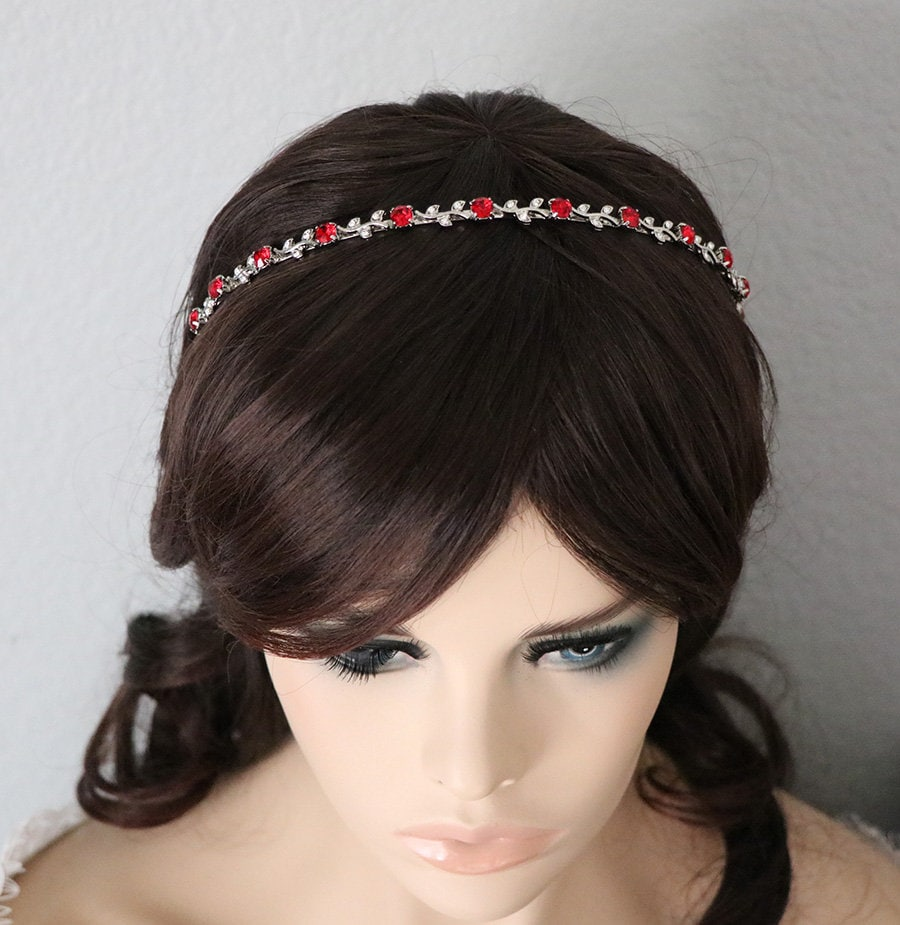 Red Bridal Headband 21615e90a02