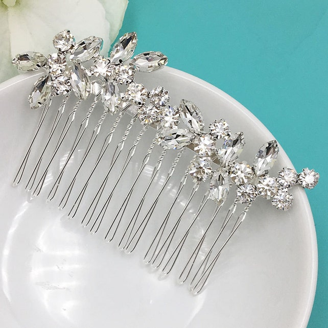 Bridal Rhinestone Crystal Comb, Bridal Comb Crystal, Wedding Crystal Hair Comb, Hair Comb, Wedding Accessory, Addison Crystal Comb