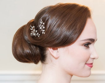 Crystal wedding hair pin, bridal hair accessories, rhinestone hairpin, crystal bridal hair pearl, bridal hairpins, Layla Hairpin