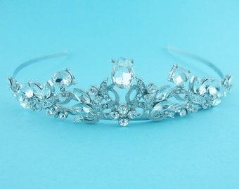 SALE! Crystal Bridal tiara headpiece, wedding tiara, wedding headpiece, crystal tiara, bridal tiara 1005