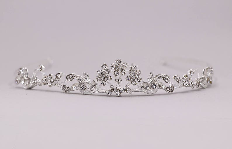 Flower Girl Tiara Swarovski Crystal Tiara wedding headpiece image 0