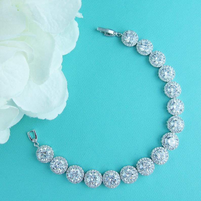 cz necklace set Bridal Jewelry Set cubic zirconia jewelry set wedding jewelry set bridal jewelry Ansley Full Jewelry Set