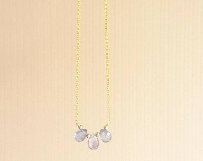 Tanzanite necklace,