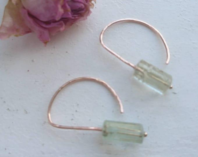 Unique heliodor earrings in 14k gold fill