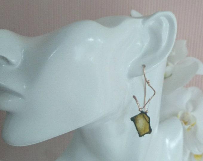 One of a kind watermelon tourmaline earrings, artisan jewelry,