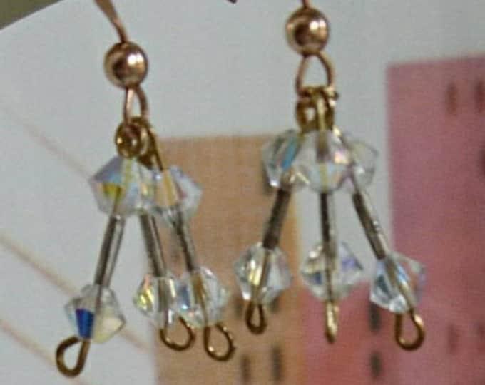 Chandelier earrings, crystal jewellery, crystal drop earrings, bridal jewellery, vintage style jewelry, downtown abbey,
