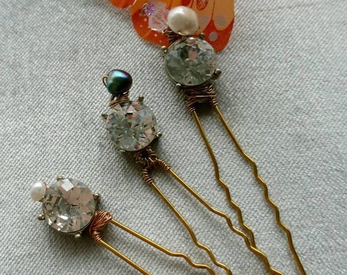 Jewelry party, Gatsby bobbypins, Downton abbey hairpins, flapper costume hair, vintage style sparkly hairpins, rhinestone hair accessories,