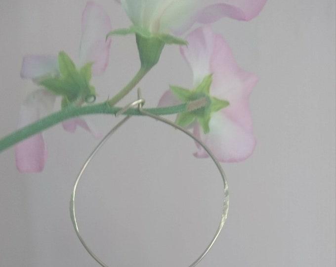 Hand textured hoop earrings, irregular large hoop earrings in 14k gold fill,