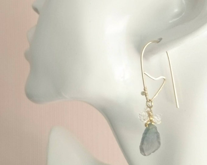 Valentine gift, Earrings watermelon tourmaline, one of a kind, drop earrings with herkimer diamonds,