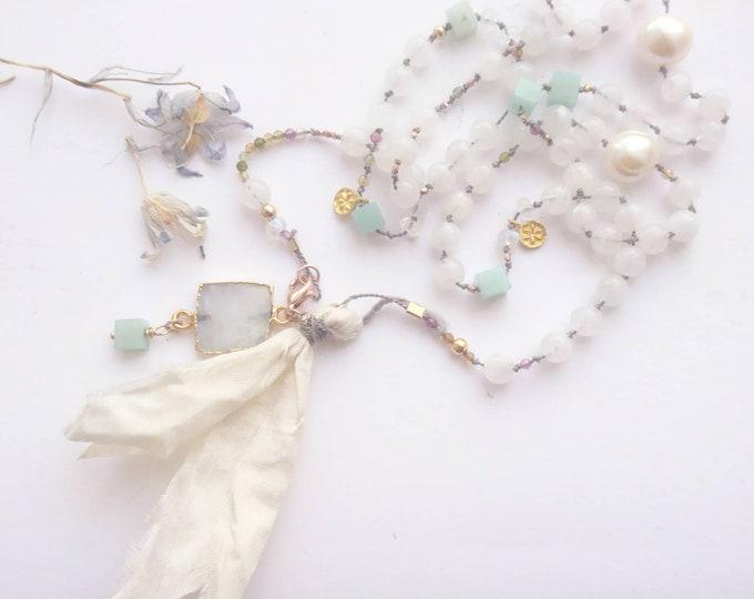 Mala bead necklace, 108 beads,