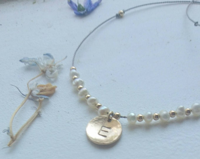 Freshwater Pearl necklace, June birthday gift for her, personalised gift