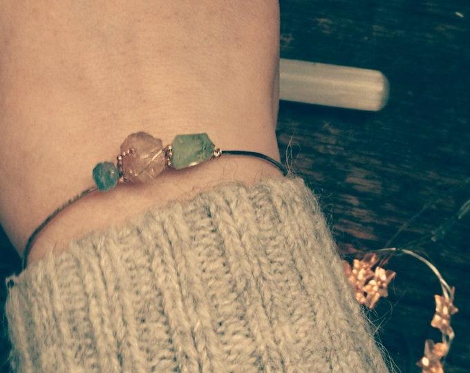 Multi stone bracelet, hammered bangle, apatite, imperial topaz and peridot bracelet, gem jewellery, gold bangle, wire wrapped open bracelet,