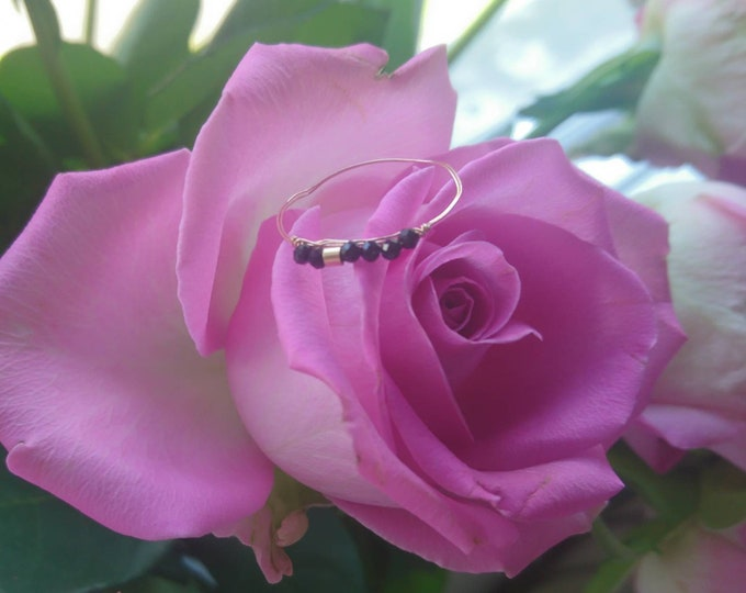 Dainty spinel gold fill ring