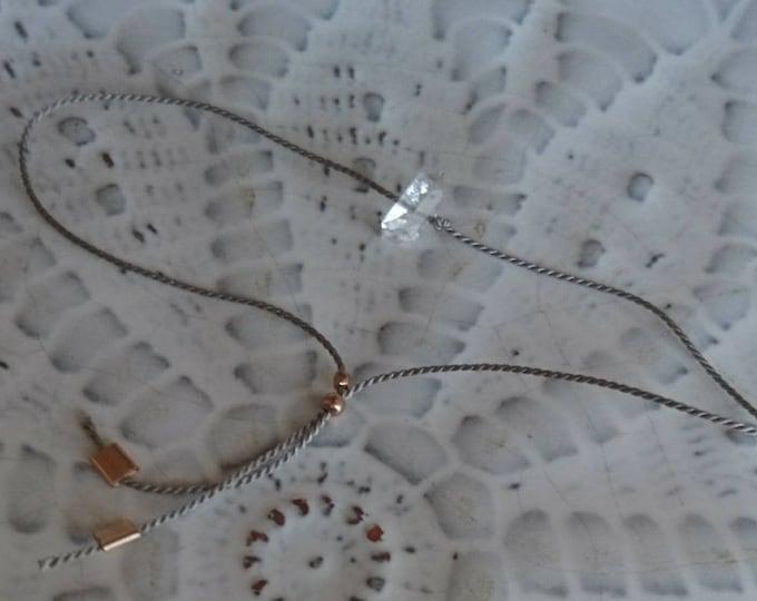 Choose your diamond , herkimer diamond cord bracelet for men and women, thread bracelet unisex, friendship jewellery, boho, Christmas gift,