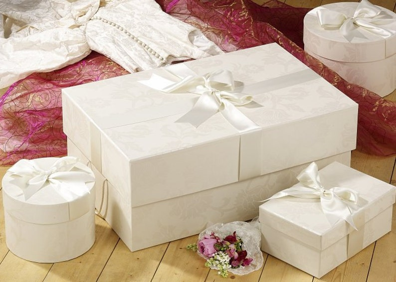Wedding Dress Storage Box In Endsleigh Ivory To Preserve A Etsy