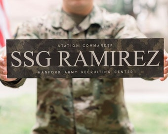 Military Gift - Military Sign - Veterans Gifts - Custom Military Sign - Custom Name Sign - Military Retirement - Military Decor - Name Sign