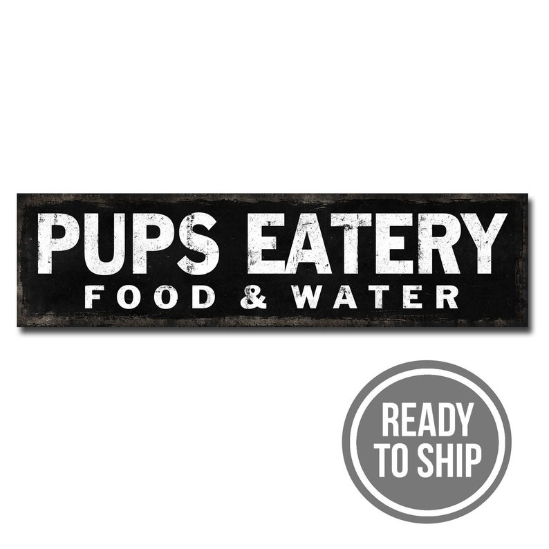 Black Pup/'s Eatery Ready to ship