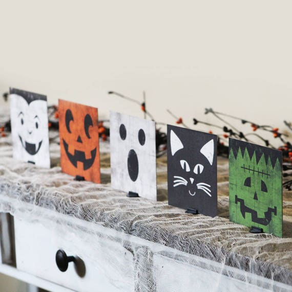 Halloween Decor Halloween Mantle Decor Halloween Sign
